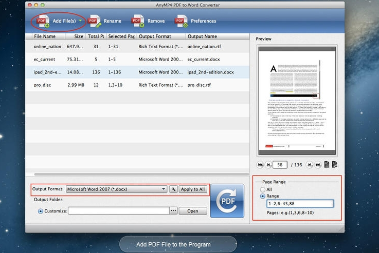 AnyMP4 PDF to Word Converter 3.0.67 Cracked Serial For Mac OS X