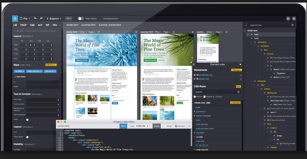 Pinegrow Web Designer 2.21 Cracked Serial For Mac OS X Free Download