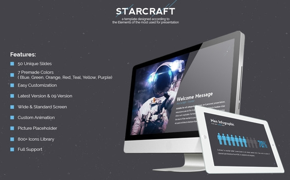 Starcraft Creativ Keynote Template For Mac OS X Free Download