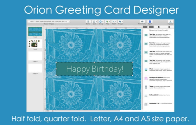 Orion Greeting Card Designer 2.80 Cracked Serial For Mac OS X Free Download