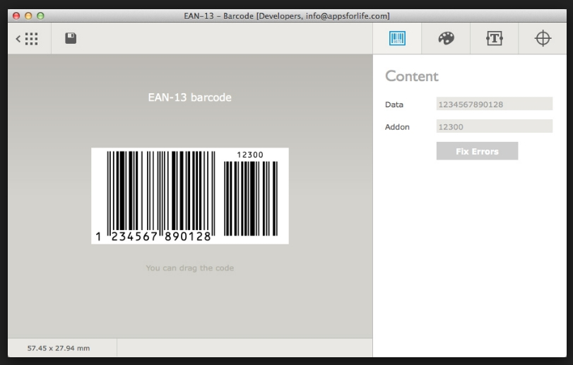 Barcode 1.5 Cracked Serial For Mac OS X Free Download