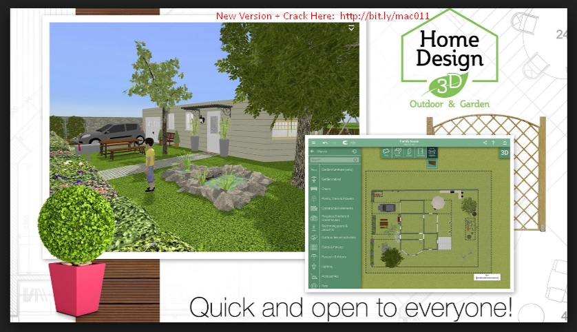 Home Design 3D Outdoor & Garden 4.0.2 Cracked Serial For Mac OS X Free Download