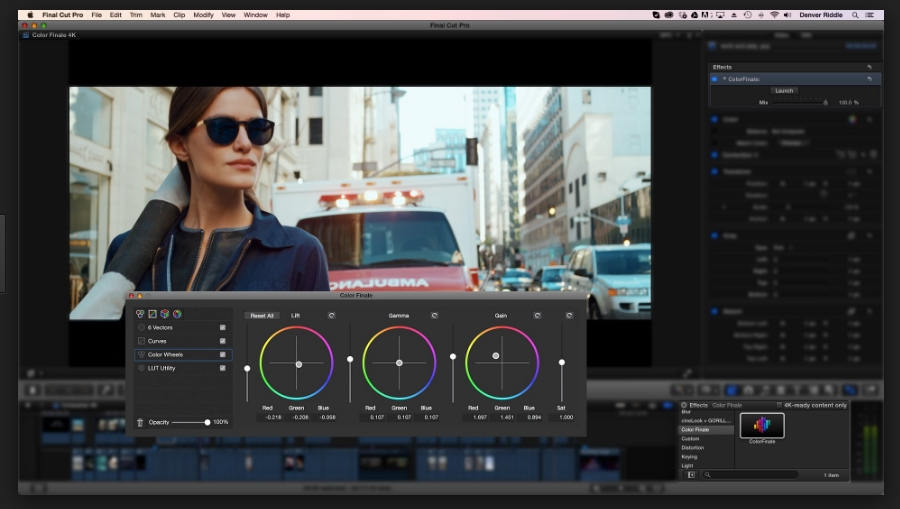 Color Finale 1.5 for Final Cut Pro X For Mac OS X Free Download