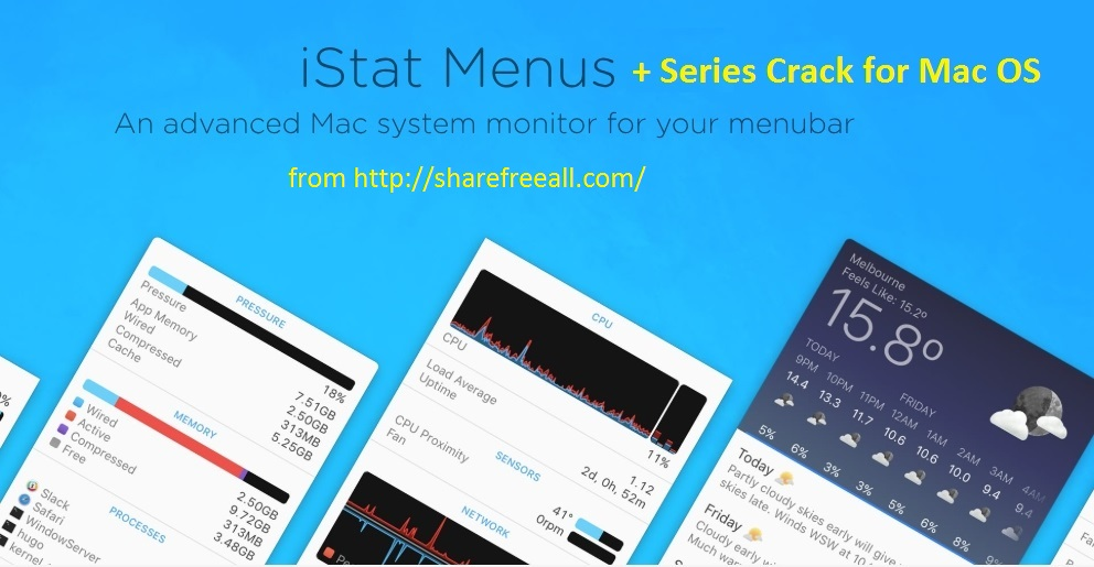 iStat Menus 6.20 Cracked Serial For Mac OS X Free Download