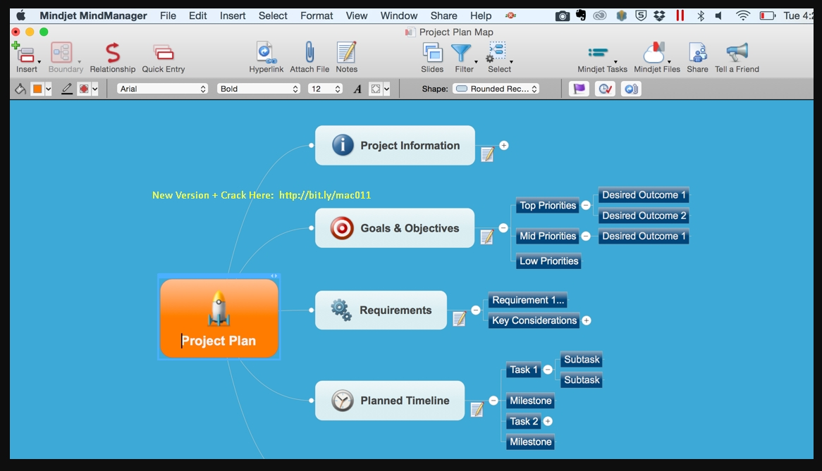 Mindjet MindManager 10.6 Cracked Serial For Mac OS X Free Download