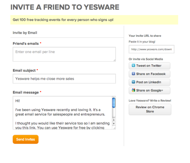 referral program yesware