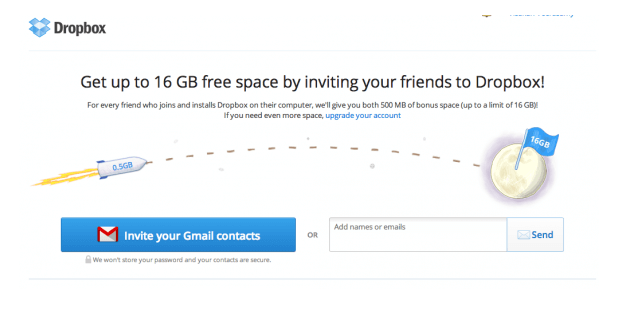 dropbox referral program