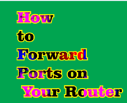 how to portforward on router
